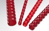 Renz Plastikbinderücken 6 mm 21 Ringe rot, 1 VE = 100 Stück