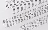 Renz Drahtkämme 6,9 mm Durchmesser, 3:1 Teilung, 34 Loops, NC-Silber, 1 VE=100 Stück