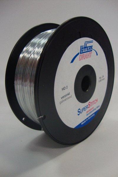 Heftdraht verzinkt Nr. 24 0,60 mm rund, 2 kg-Spule(HD-2 ...