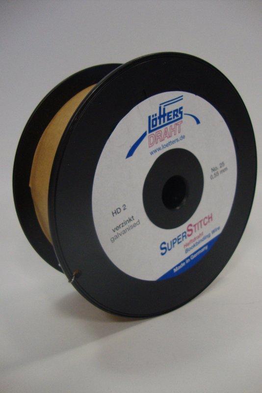 Heftdraht STAHL-verzinkt Nr. 25 0,55 mm rund, 2 kg-Spule(HD-2 ...