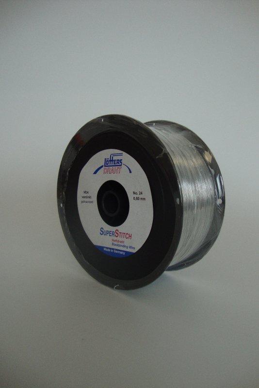 Heftdraht verzinkt Nr. 24 0,60 mm rund, 4 kg-Spule(HD-4 ...