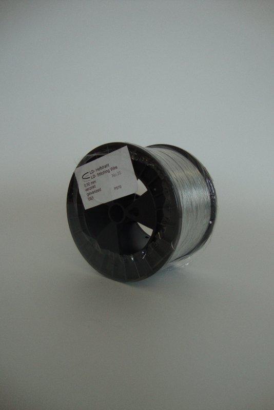 Heftdraht verzinkt Nr. 26 0,50 mm rund, 2,5 kg-Spule(US5 ...